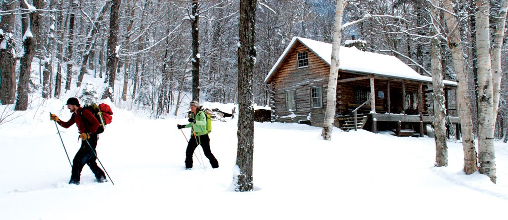 Snowshoeing at Slayton Pasture Cabin - FILE: BRIAN MOHR