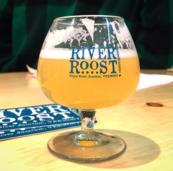 Sampling a beer at River Roost Brewery - HANNAH PALMER EGAN