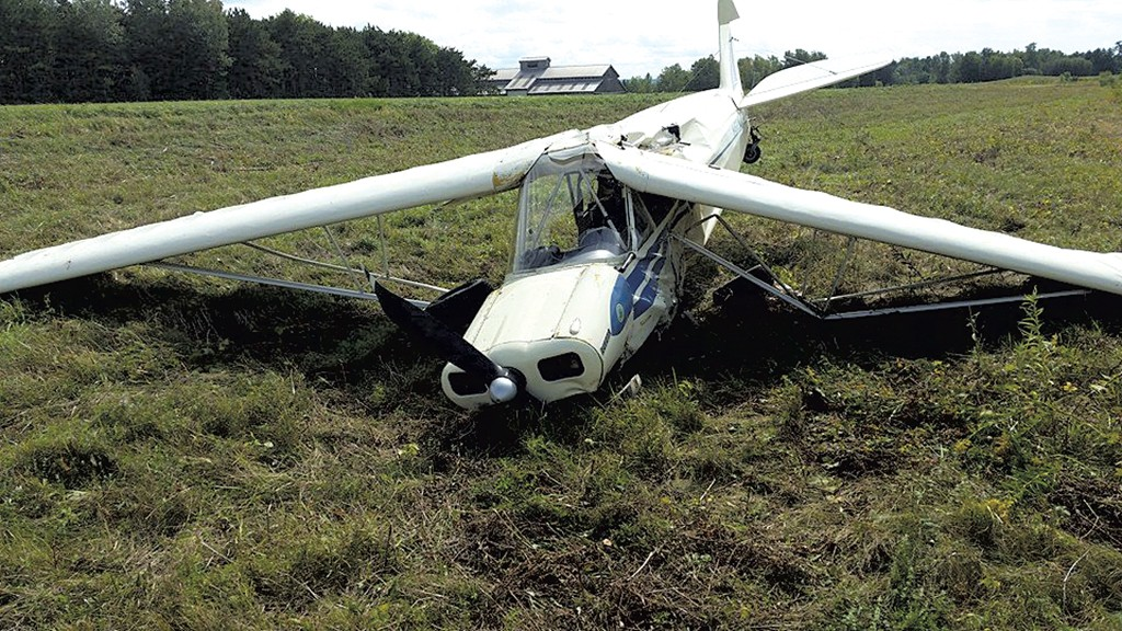 Plane crash on Savage Island in September - COURTESY OF WAYNE FISHER