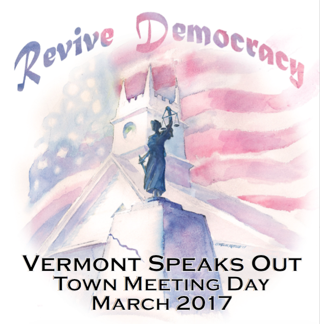 Town Meeting Day action poster - COURTESY OF BILL BUTLER