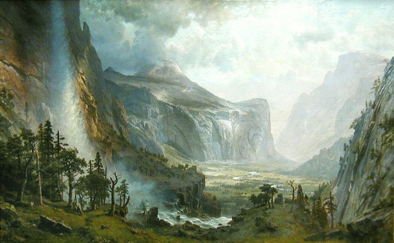 """The Domes of Yosemite,"" Albert Bierstadt, oil on canvas - ST. JOHNSBURY ATHENAEUM"