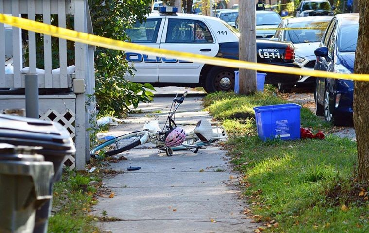 A bike at the crime scene - COURTESY: ALEX CORRIVEAU