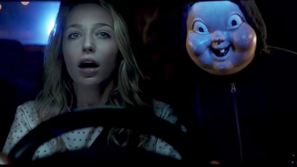 Movie review time loop horror comedy happy death day gives click to enlarge baby evil the killers mask is by far the scariest thing in this wannabe mashup of stopboris Choice Image