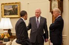 In the Oval Office with President Obama and Vice President Joe Biden