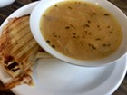 Fontina-and-apple panini with white-bean-and-ham soup
