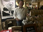 Erik Andrus sells his rice and duck eggs at the Burlington Farmers Market