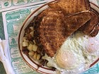 P&H Truck Stop: eggs, hash, toast