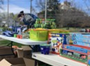 School Distribution Sites Provide Food, Toys for Burlington Kids