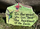 Who's Leaving Inspirational Painted Rocks Around South Burlington and the South End?