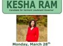 Kesha Ram to Hold D.C. Fundraiser
