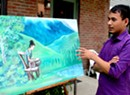 Bhutanese-Vermont Artist Paints Life as Refugee