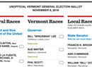 Who's on Your Vermont 2016 Ballot?