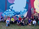 Champlain College Students Color South End Wall