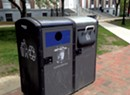 What's With Burlington's Solar-Powered Trash Cans?