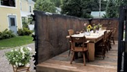 Dining in a Dumpster at Waterbury's Salvage Supperclub