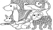 Difficult Dogs Coloring Page
