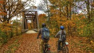 Cyclists Savor Scenery and History on the Lamoille Valley Rail Trail