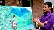 Bhutanese-Vermont Artist Paints Life as Refugee