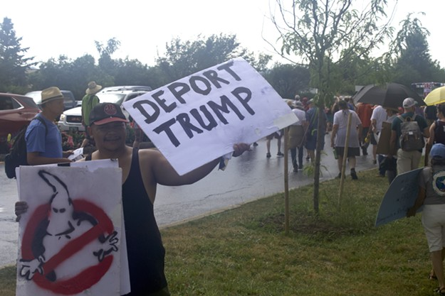 Slideshow: ICE Protest and Border Patrol Checkpoint