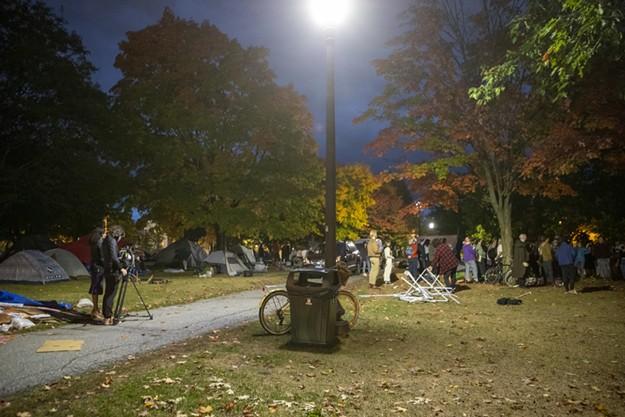 Dismantling the Battery Park Encampment