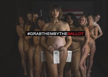 Naked and Unafraid: Vermont Women Strip Down to 'Grab Them by the Ballot'