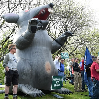 Scenes from the Scott Walker Protest