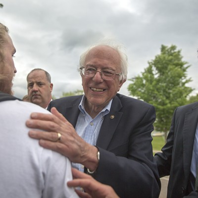 Photos From Bernie Sanders' Homecoming at the Burlington Airport