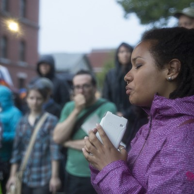 Photos: A Burlington Vigil and Protest for Alton Sterling and Philando Castile