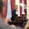 Gov. Phil Scott delivers his budget address in the Vermont Statehouse Tuesday.