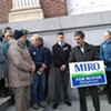 At Endorsement Event, Weinberger Supporters Rebut Rival Driscoll