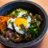 Stone bowl of bi-bim-bap