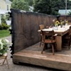 The dumpster setting of Waterbury's Salvage Supperclub