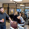 Cuts and Cocktails at the Barbershop in Burlington