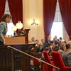 House Speaker Mitzi Johnson gaveling in the final override vote Wednesday