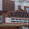The Flynn theater marquee in Burlington