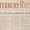 The final edition of the Waterbury Record