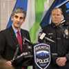 Mayor Miro Weinberger and Deputy Chief Jon Murad last December