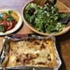 Shelburne Farms lasagna with salad