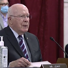 Sen. Patrick Leahy at a hearing on Thursday