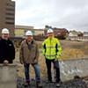 From left: Dave Farrington, Al Senecal and Scott Ireland at the CityPlace site in Burlington