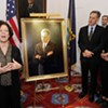 Outgoing Governor Shumlin and August Burns Unveil New Portrait