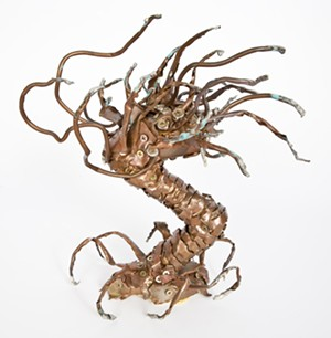 COURTESY OF ROSS SHEEHAN - A copper sculpture by Ross Sheehan