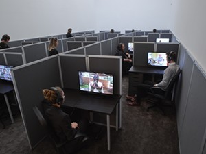 """COURTESY OF HOOD DOWNTOWN - Installation view of """"Reason's Oxymorons"""" by Kader Attia. Photo by Max Yawney."""