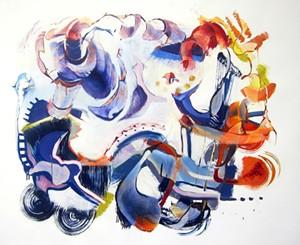 "COURTESY OF BIGTOWN GALLERY - ""Odessa Steps"" by Nancy Taplin"