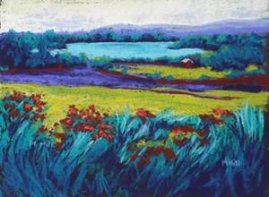 "COURTESY OF RIVER ARTS - ""Yin Yang Landscape"" by Marcia Hill"