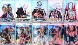 """COURTESY OF T.W. WOOD GALLERY - """"Last Supper"""" by Ronald Slayton"""