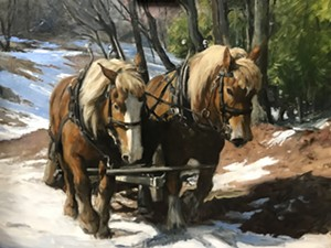 "COURTESY OF THE GOVERNOR'S GALLERY - ""Sugaring Up High"" by Carolyn Egeli"