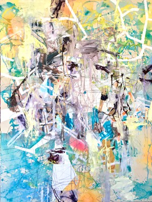 """COURTESY OF EDGEWATER GALLERY IN STOWE - """"Undertow,"""" painting by Galen Cheney"""