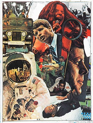 """COURTESY OF MAHANEY CENTER FOR THE ARTS - """"Signs,"""" screenprint by Robert Rauschenberg"""