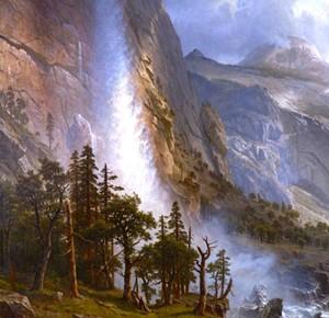 "Detail of ""The Domes of the Yosemite"" by Albert Bierstadt - Uploaded by Scott Davis"
